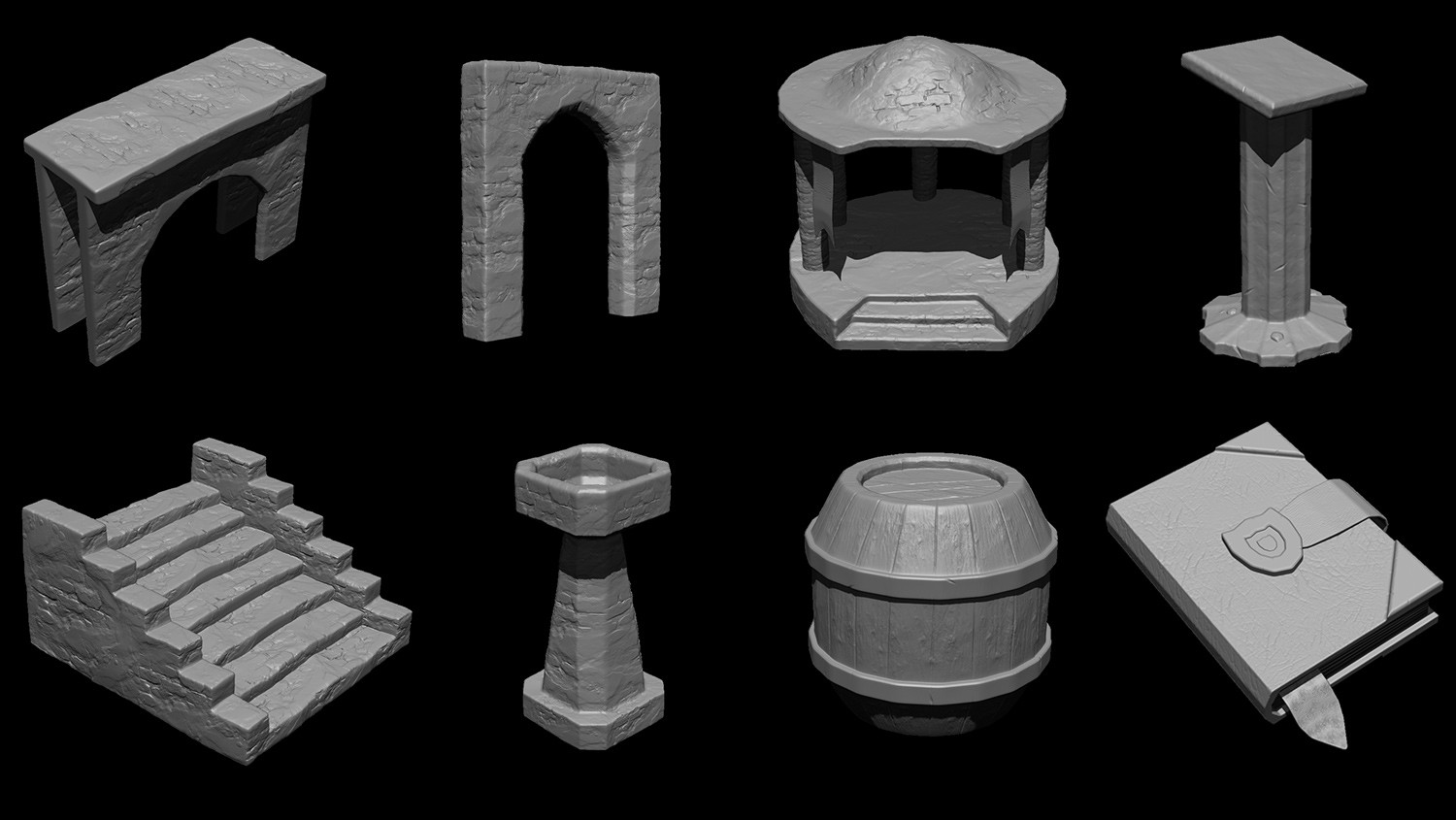 Some highpoly models from ZBrush