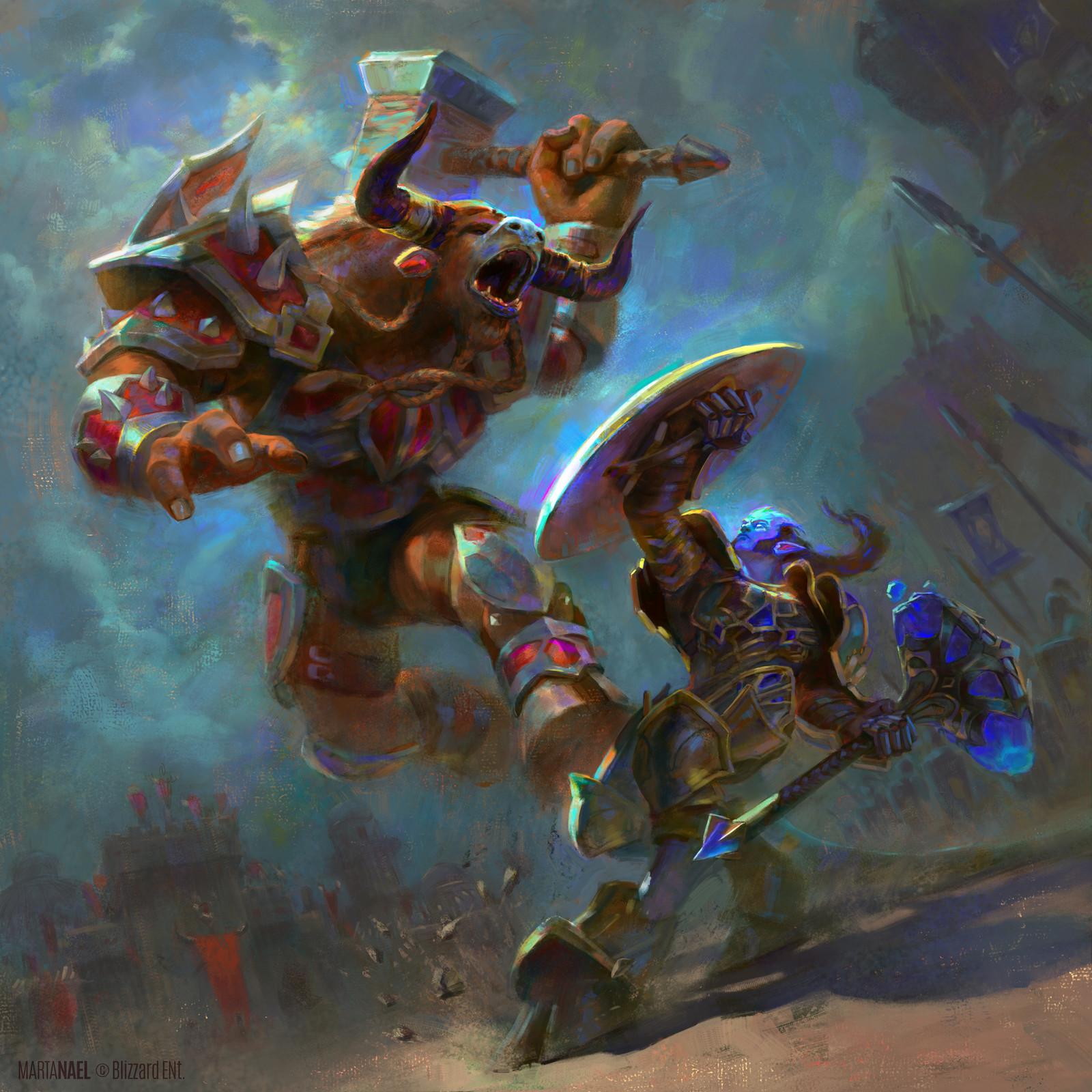World of Warcraft - Battle for Azeroth: Tauren vs. Draenei