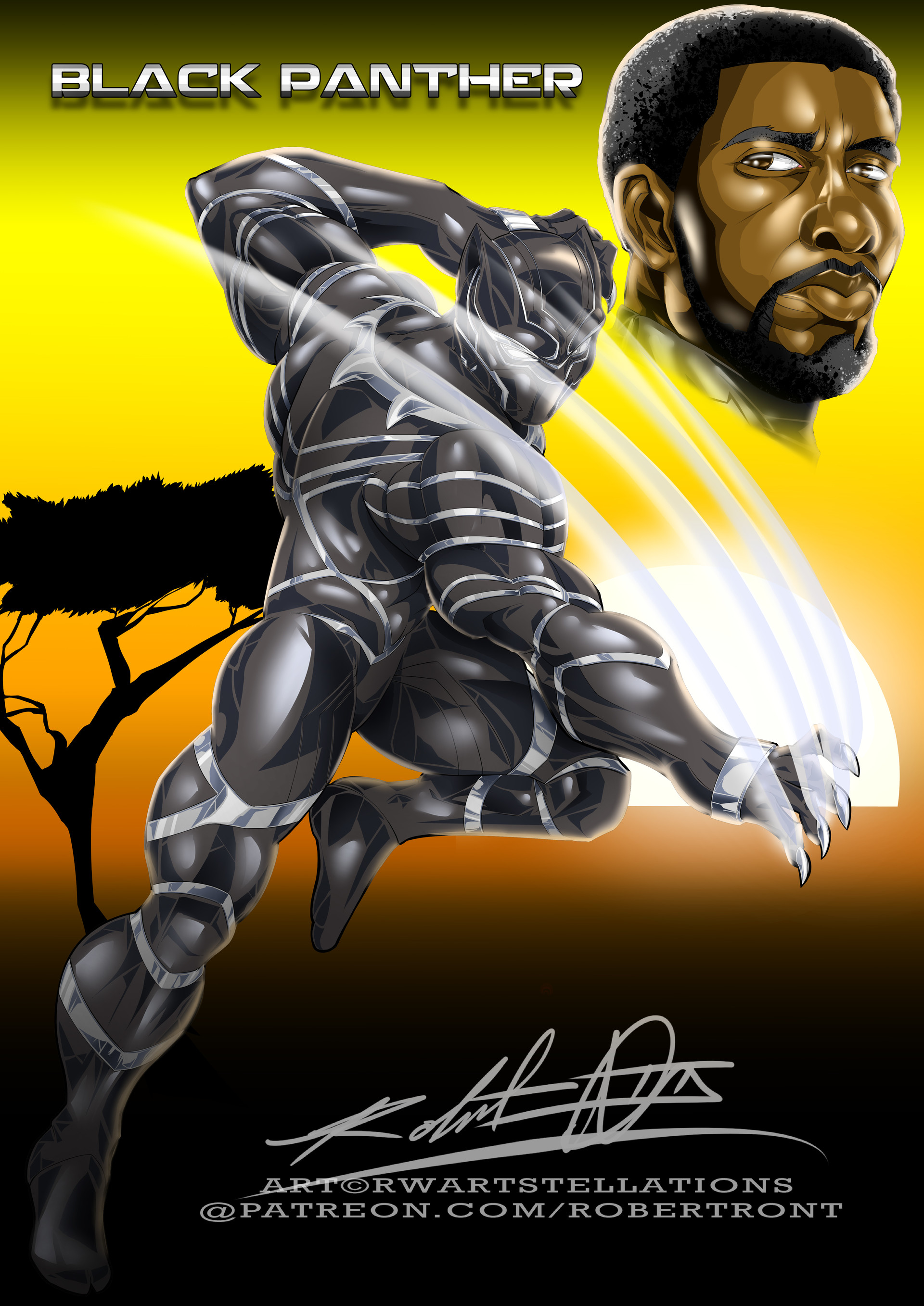 Robert e wilson black panther