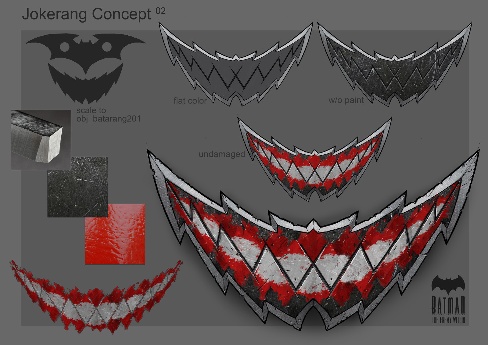 Batman: The Enemy Within, prop concepts