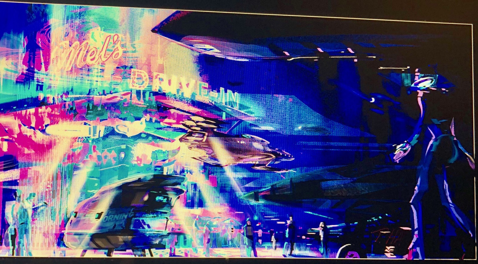 Mel's Drive-In. Digital sketch.  Kinda Retro Sci Fi.