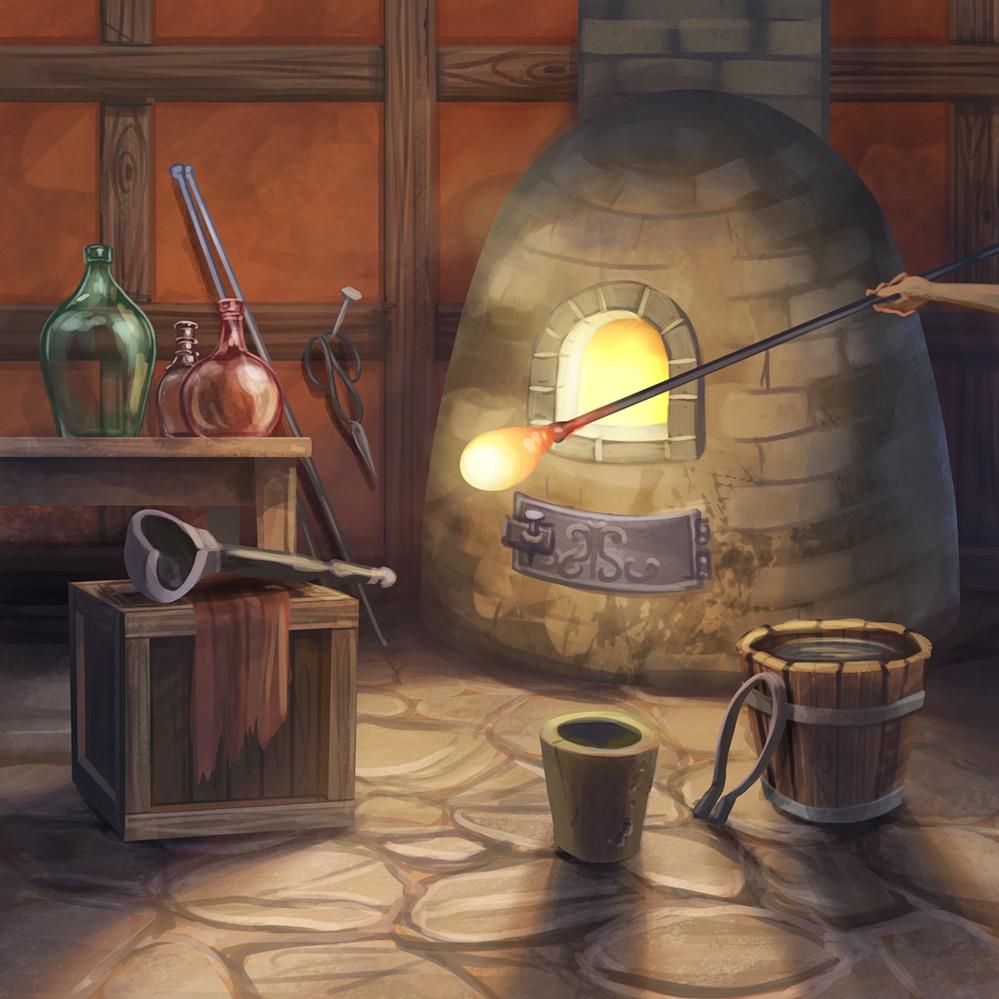 Agnieszka anez dabrowiecka utility glassmaking room2