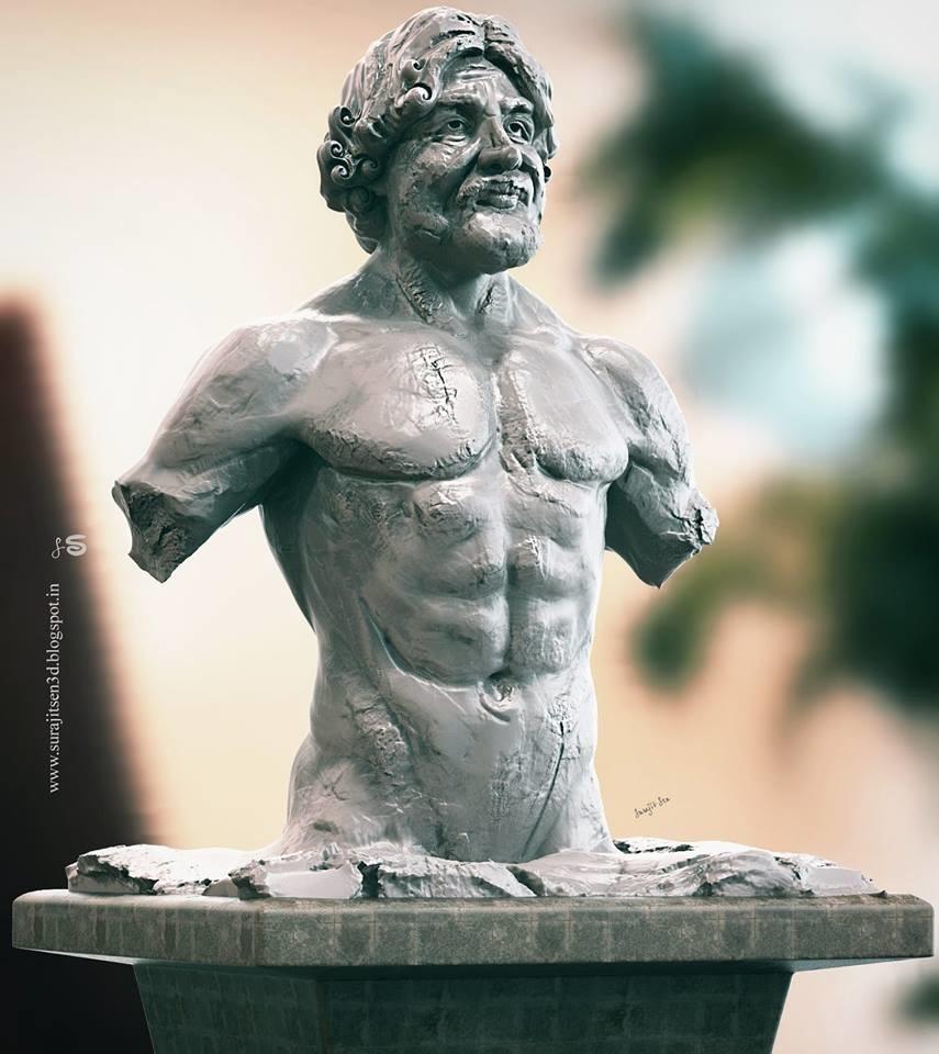 Surajit sen man pose quick sculpt scurajit sen 28092018 ins
