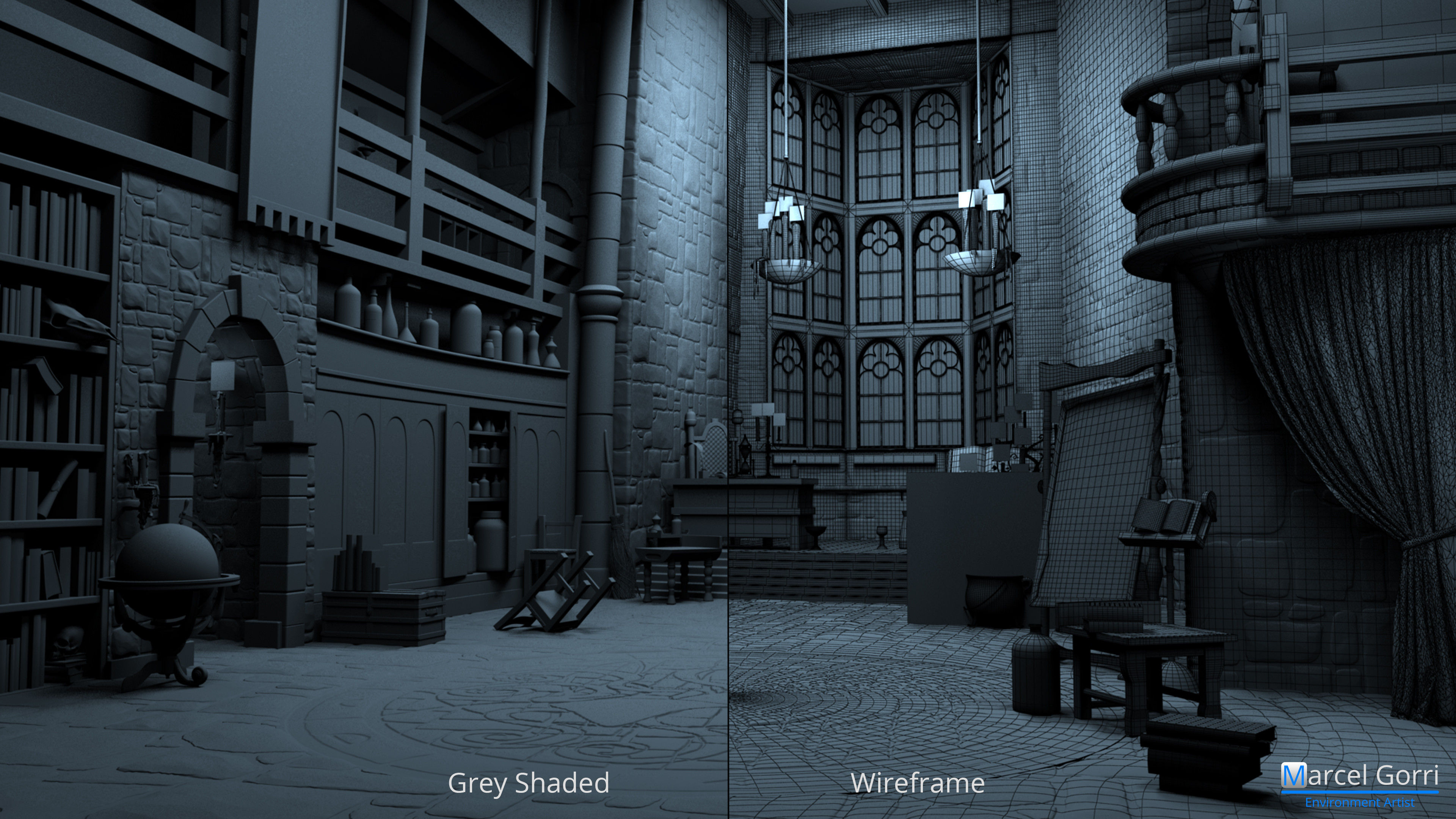 Wonderbook - Breakdown: Grey Shaded / Wireframe