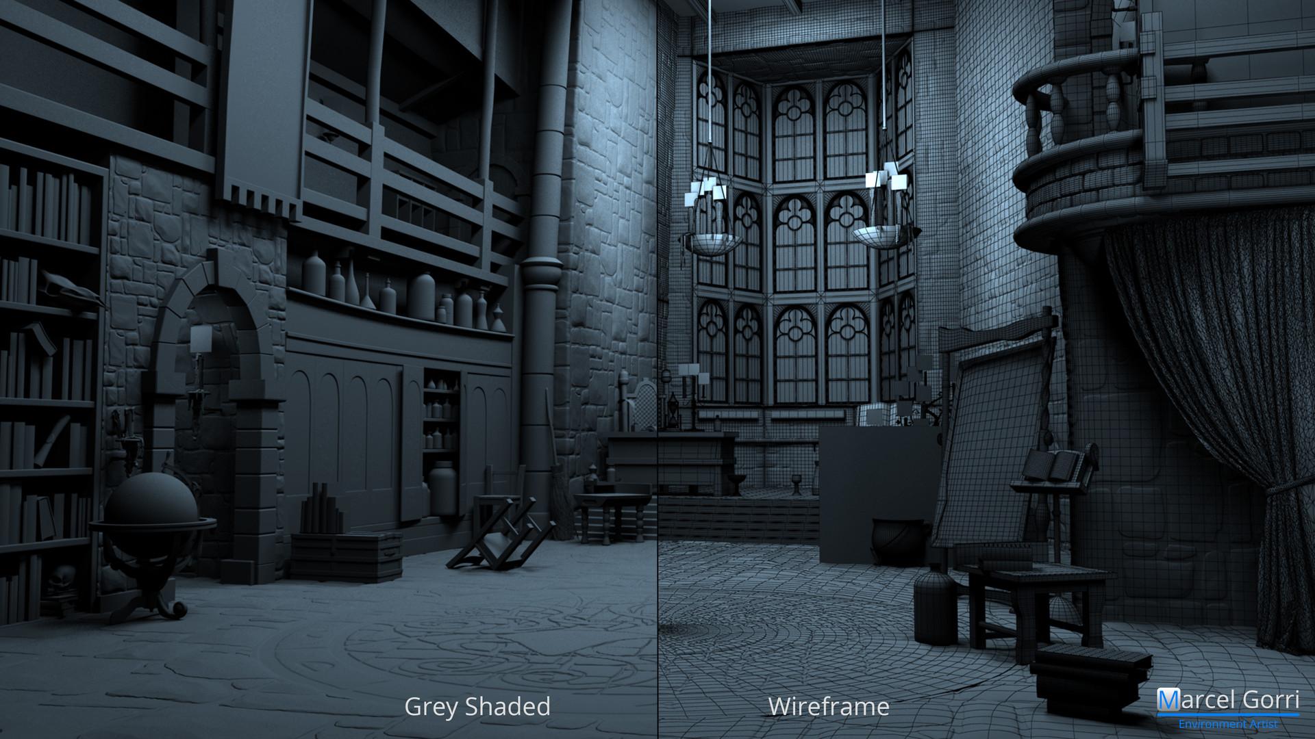 Wonderbook - Breakdown: Grey Shaded / Wireframe