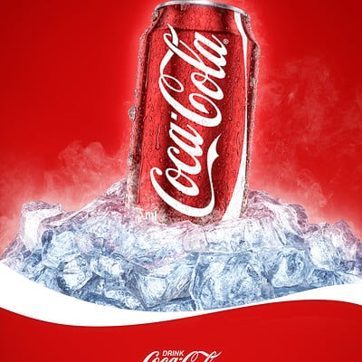 Cold Coca-Cola Can