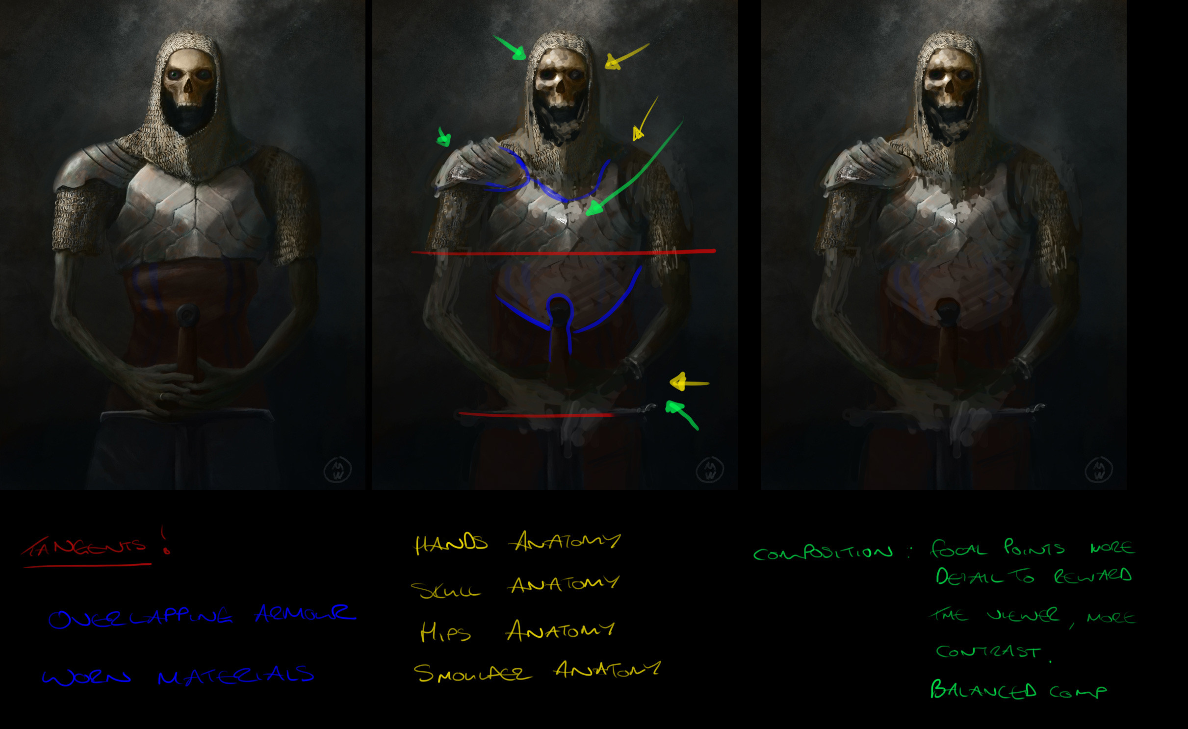 Over paint and critique given by Christopher Cant which helped tremendously. Check out his Discord server: https://discordapp.com/invite/AVfgNMs