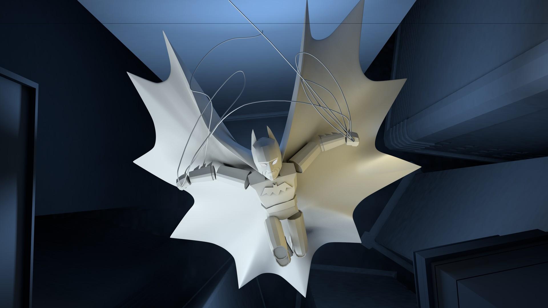 ArtStation - Batman The Dark Knight Low Poly Action Pose
