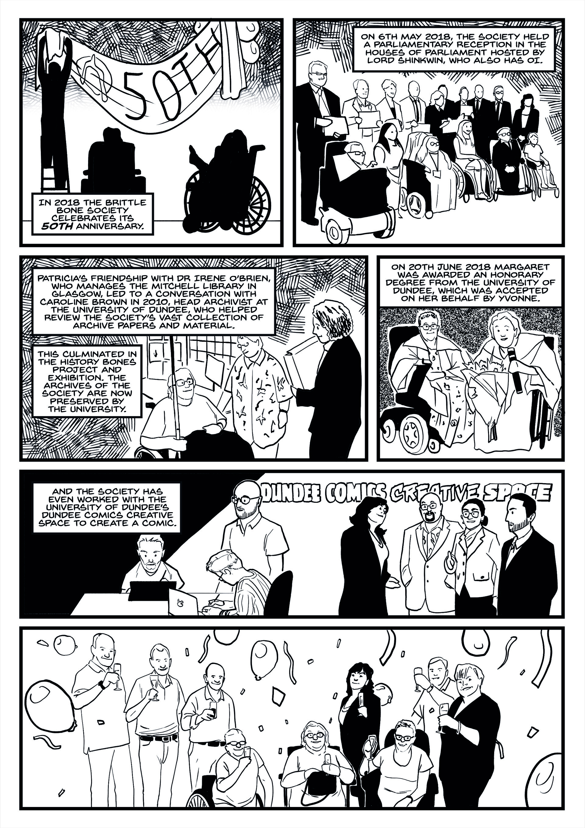 Elliot balson brittle bone society comic page 7 inks