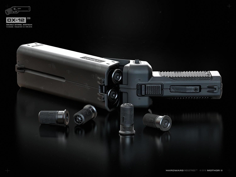 DX-12 'Punisher' - The double-barreled shotgun-pistol -The Firearm Blog