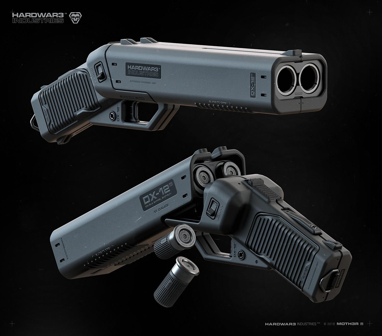 Meet the DX-12: This Futuristic Shotgun Looks Pretty