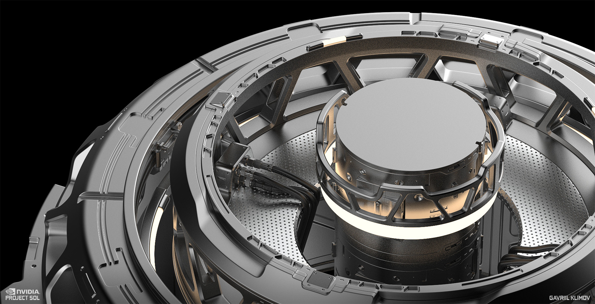 Work in progress render. Showing the inner workings of the middle elevating platform