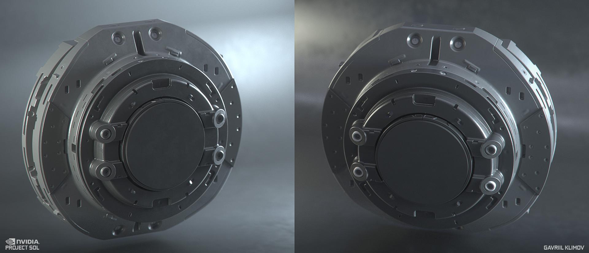Pipe disk latch mechanism. WIP render