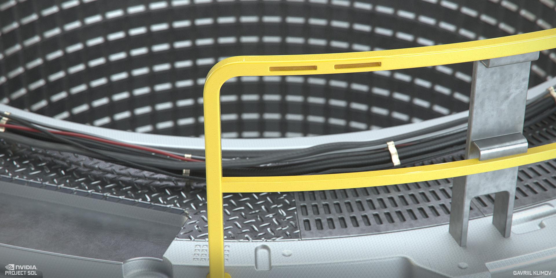 Vis-dev shading close-up render