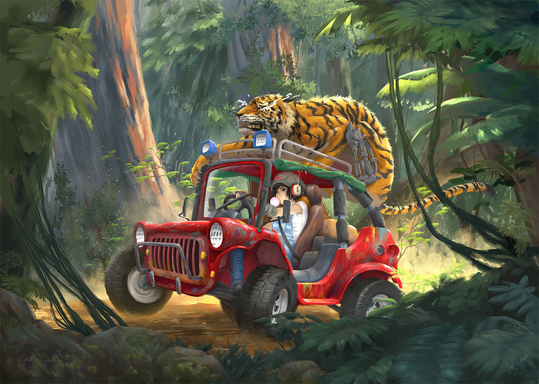 Tan kwang yang tanky no se color illustration jungle buggy web