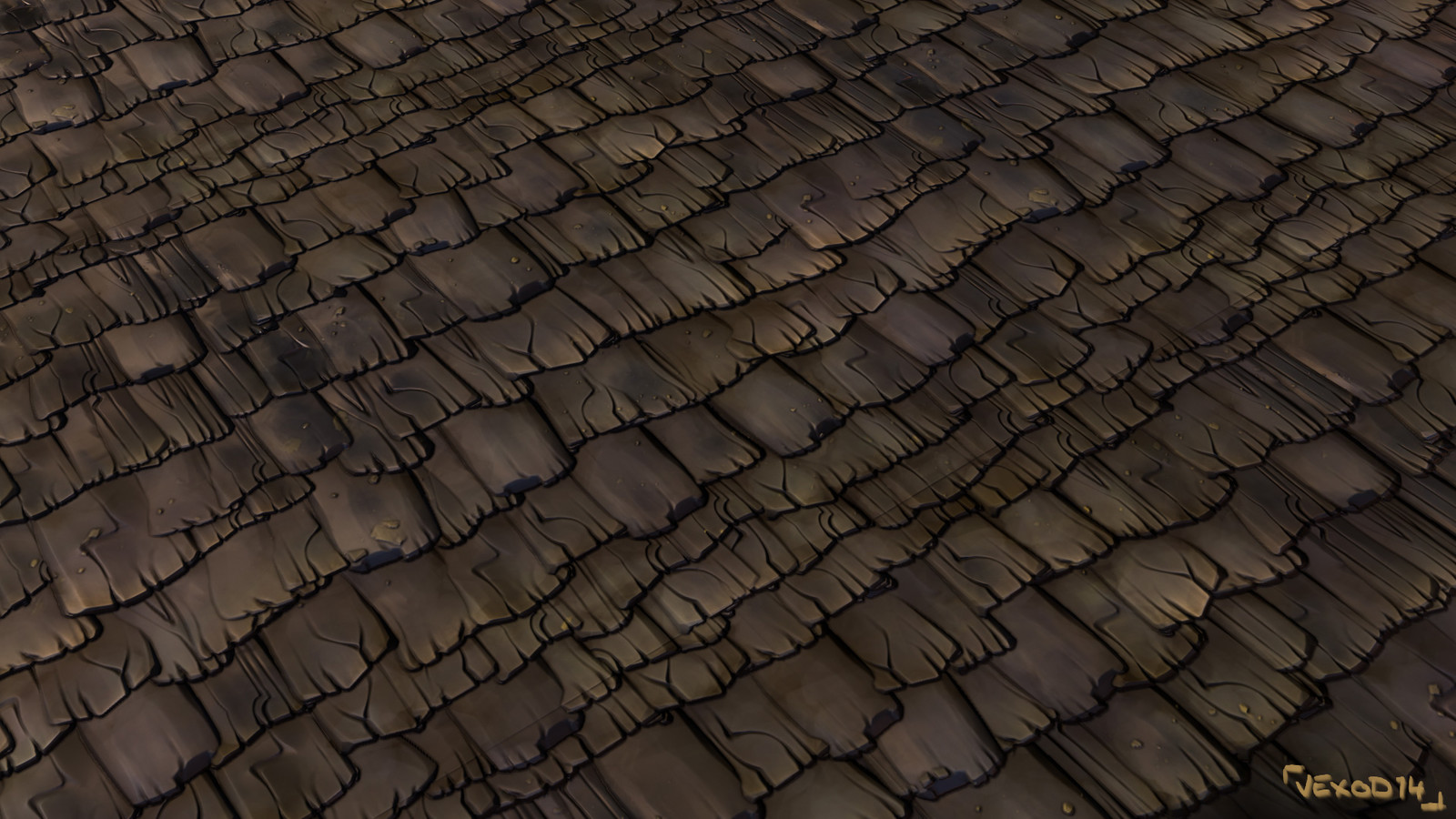 Tileable texture of rooftiles