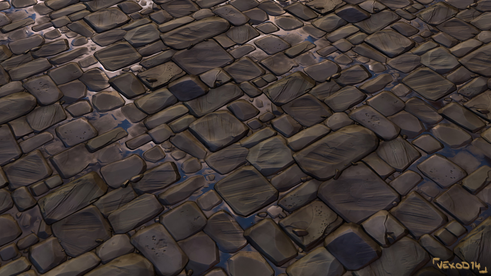 Tileable texture of pavements