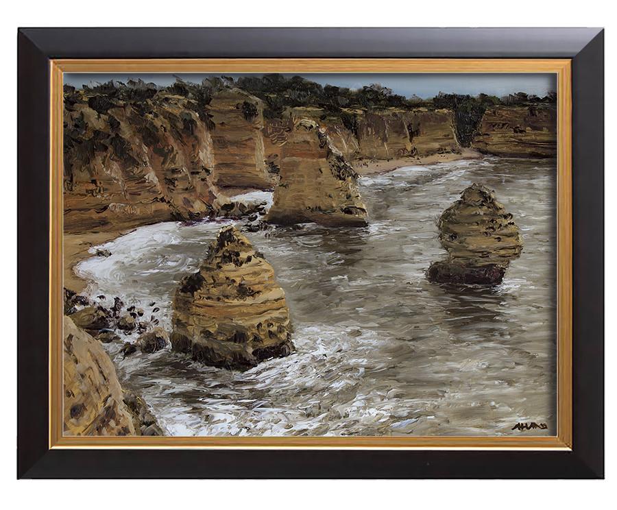 Arthur haas stormy marinha beach framed small