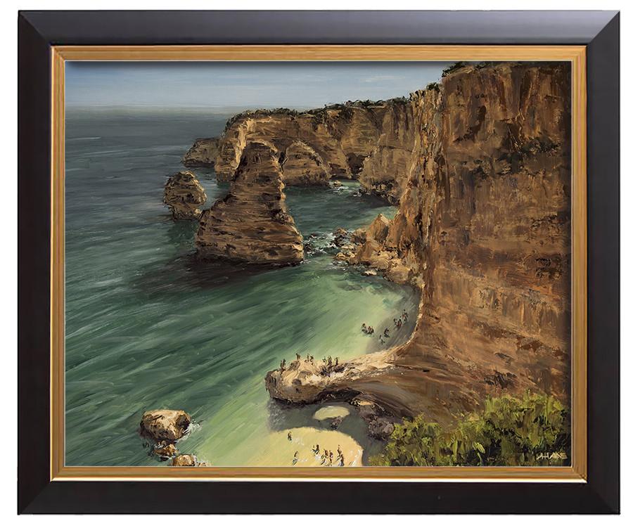 Arthur haas praia da marinha framed small