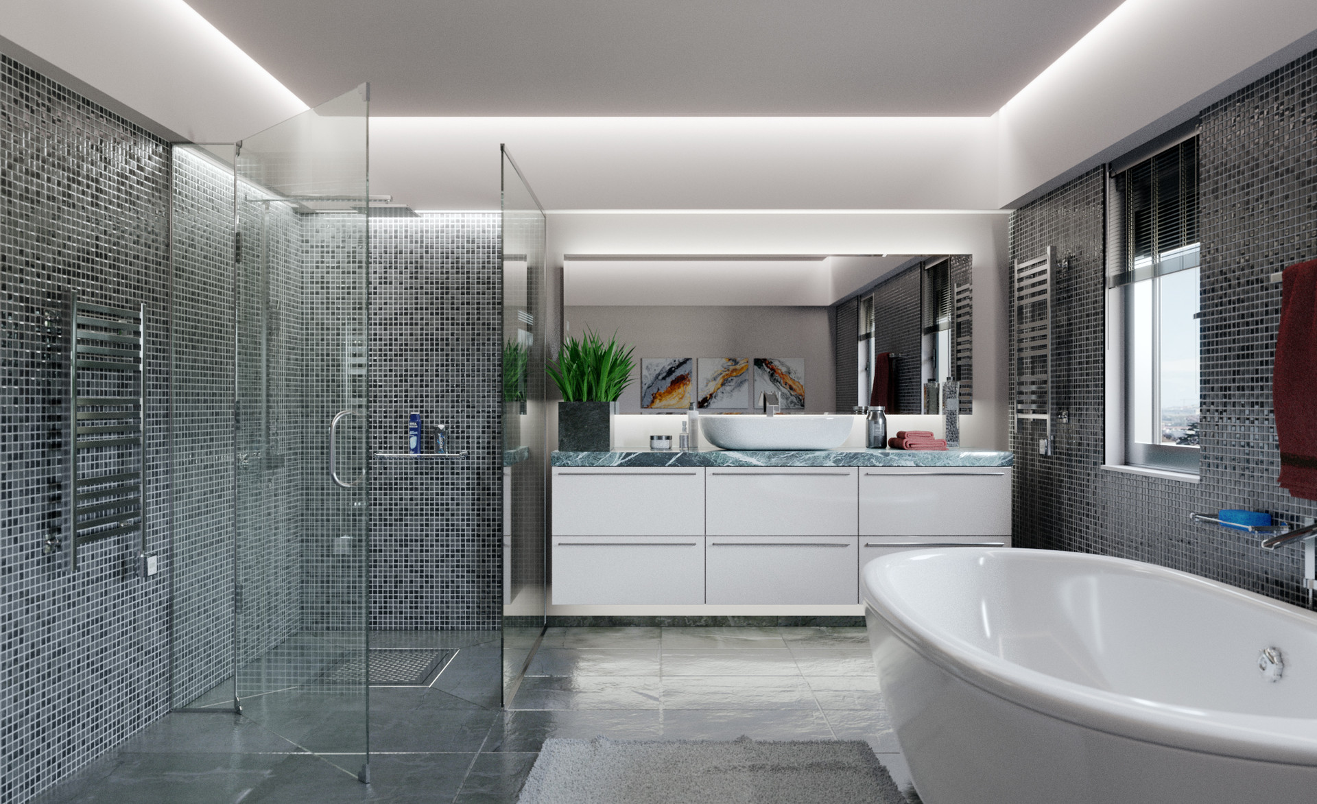 ArtStation - Modern Bathroom, Nick Mez