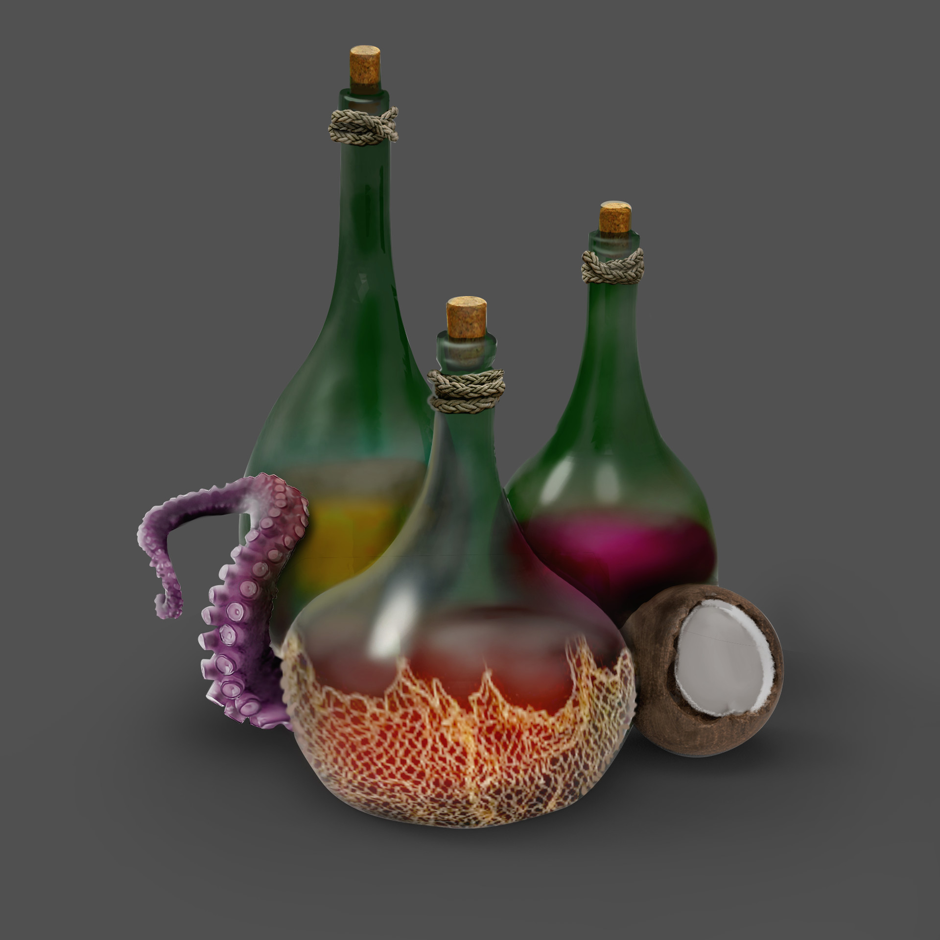Magical rum potions