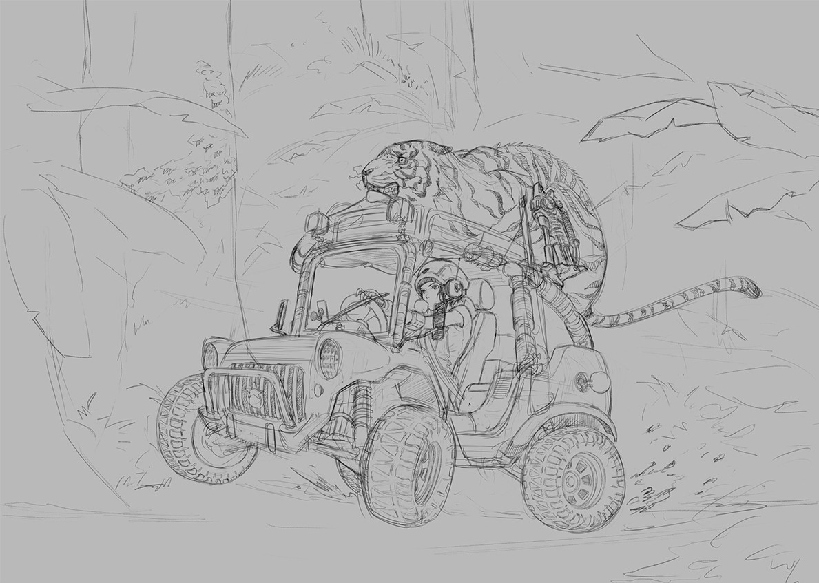 Tan kwang yang tanky no se jungle buggy wip 0001 no se color illustration jungle buggy wip01 jpg