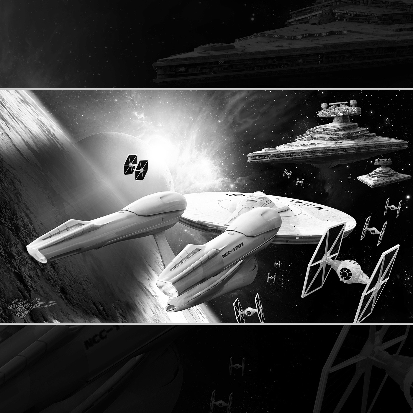 U.S.S. Enterprise meets Star Destroyer