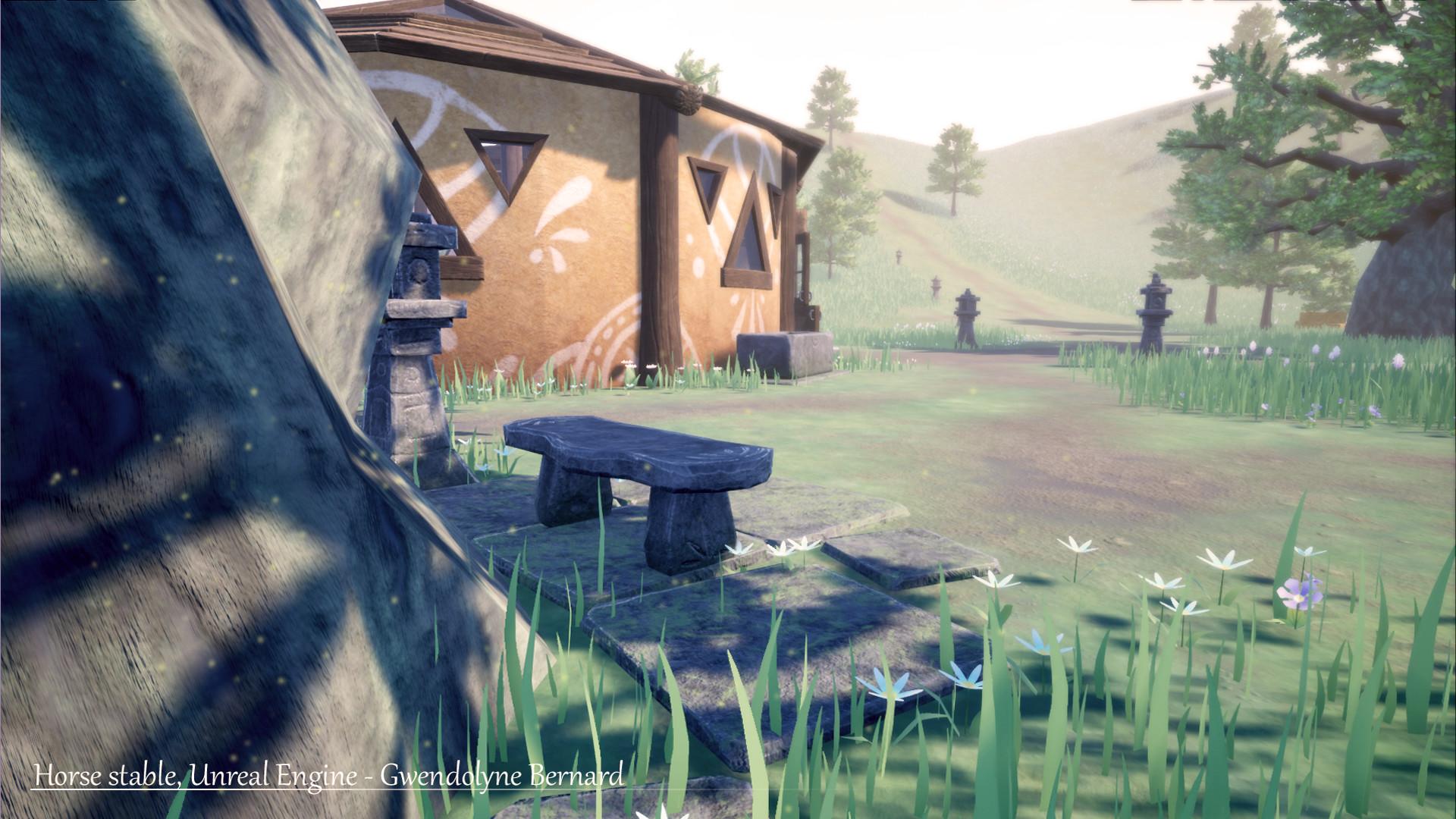 ArtStation - Horse stable (Zelda Breath of the Wild style