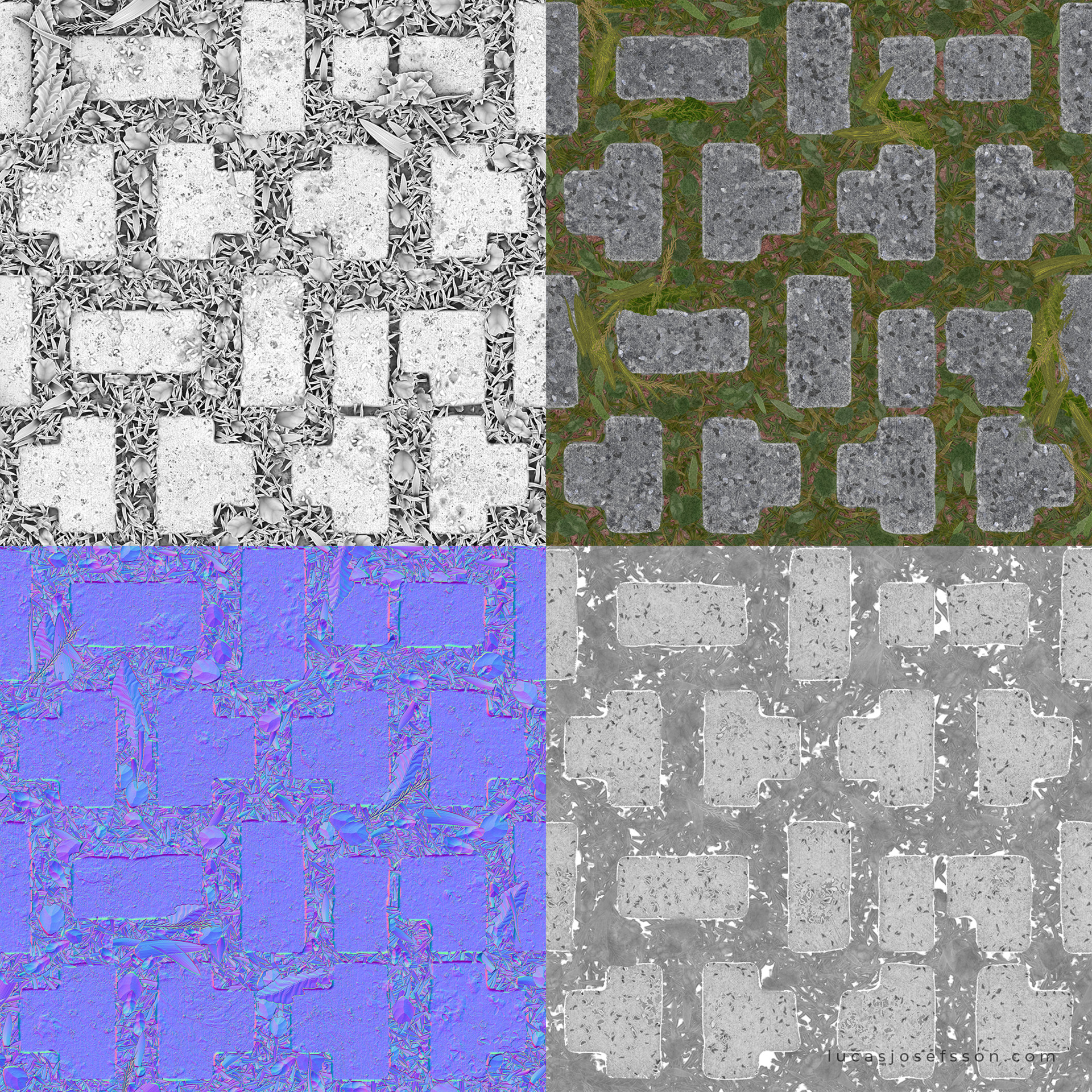 Lucas josefsson cobble with grass lucasjosefsson textures