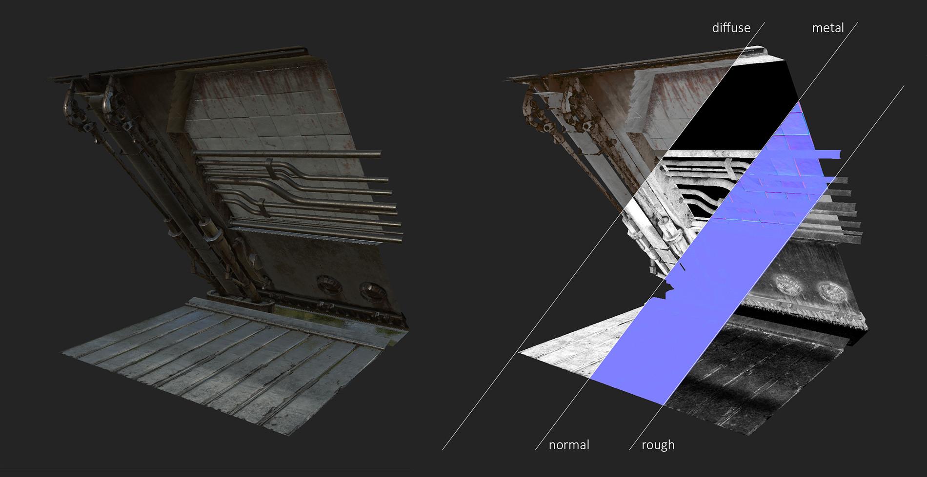 Breakdown of modular piece.