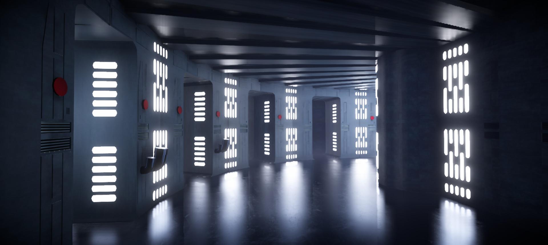 ArtStation - Death Star Hallway (Unity Scene), Ysidro Hartzell