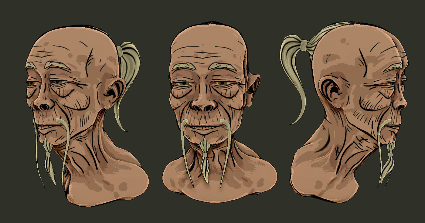Early stylization test in ZBrush