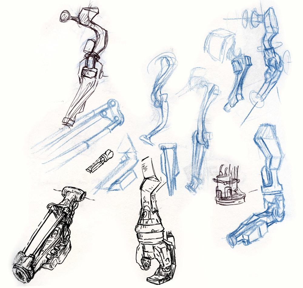 Artificial arm doodles