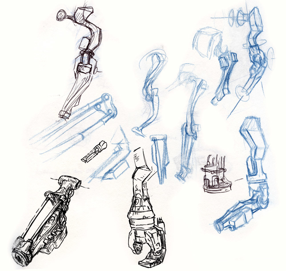 Artificial arm doodles