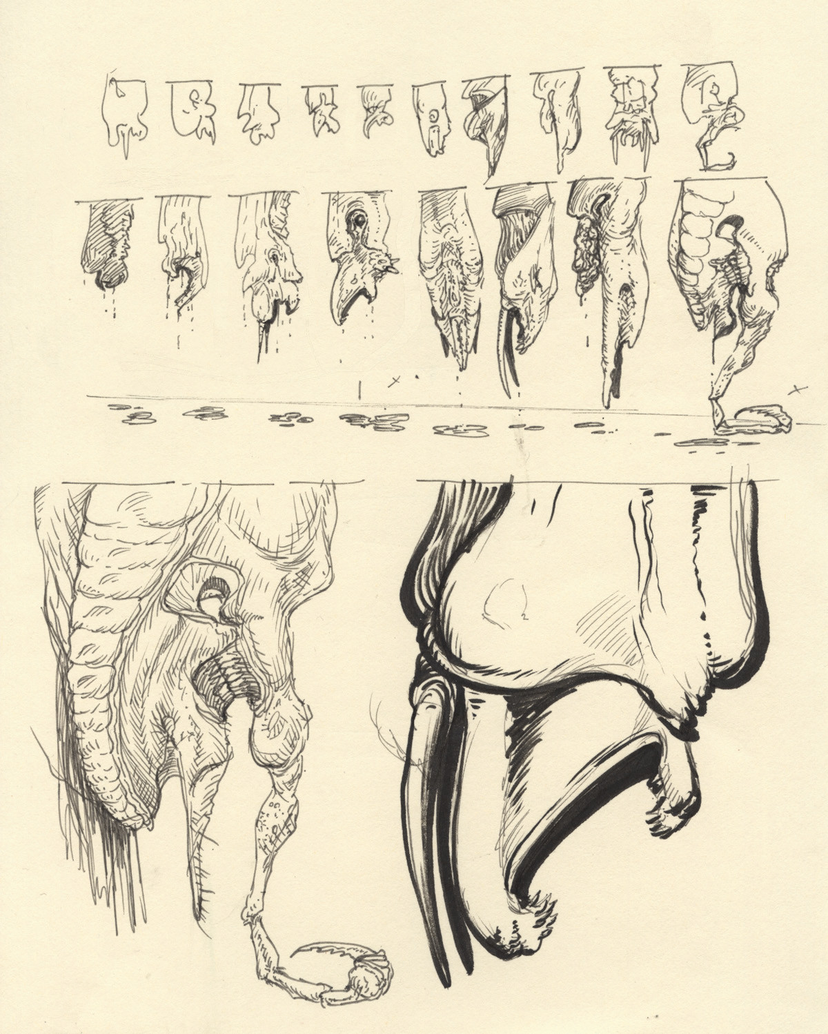 Early design in a more alien like direction