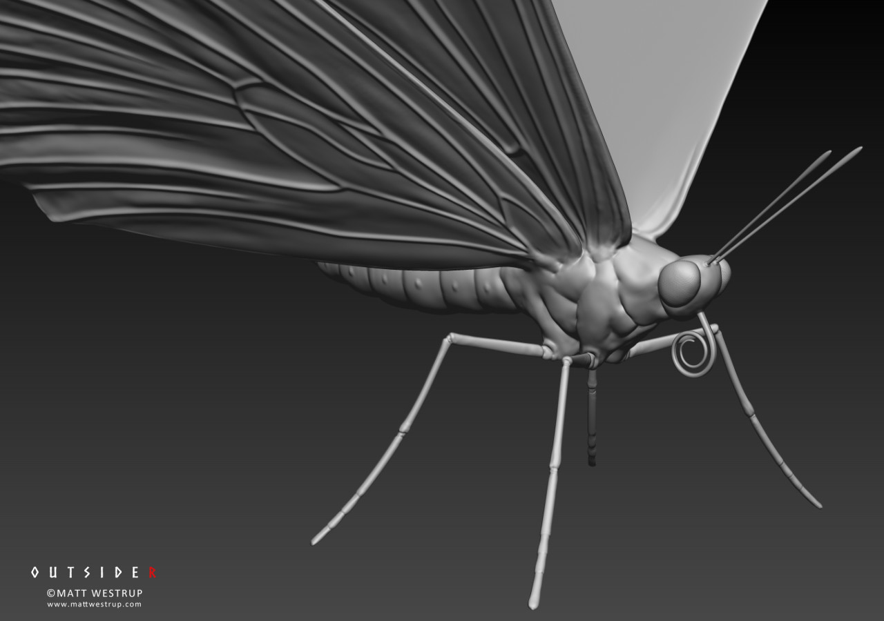Character ark zbrush butterfly 01