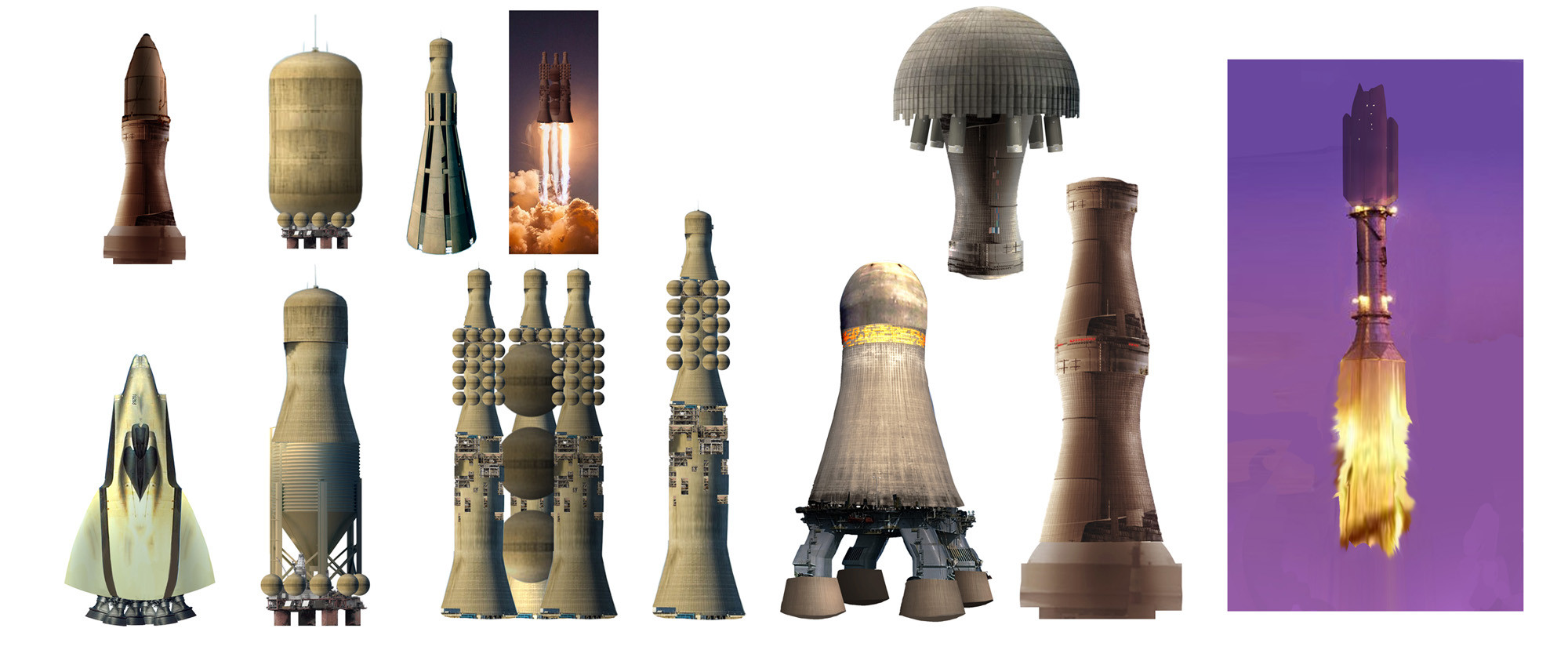 I also made concepts for the rocket. The idea was to use elements of nuclear power plants.