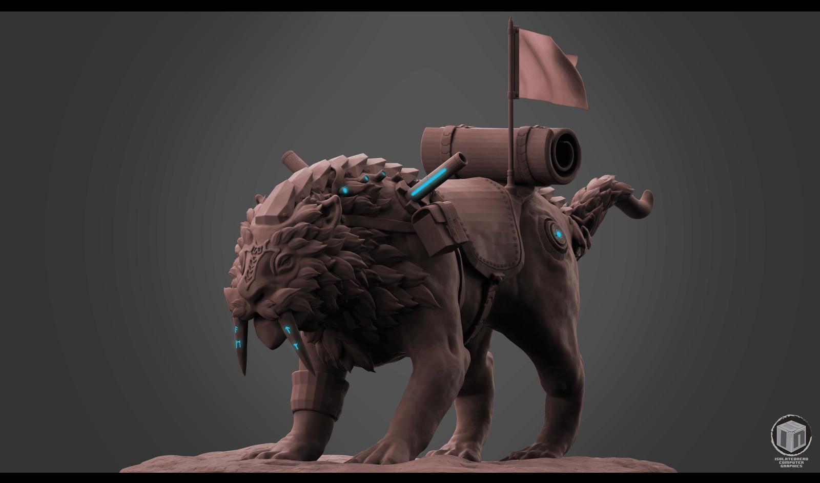 Journey Mount Editions - Big Magic Rune Tiger