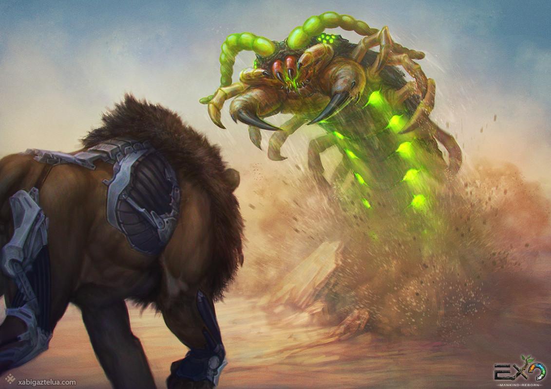 [EXO: Mankind Reborn] - Alpha Centipede vs Sharik