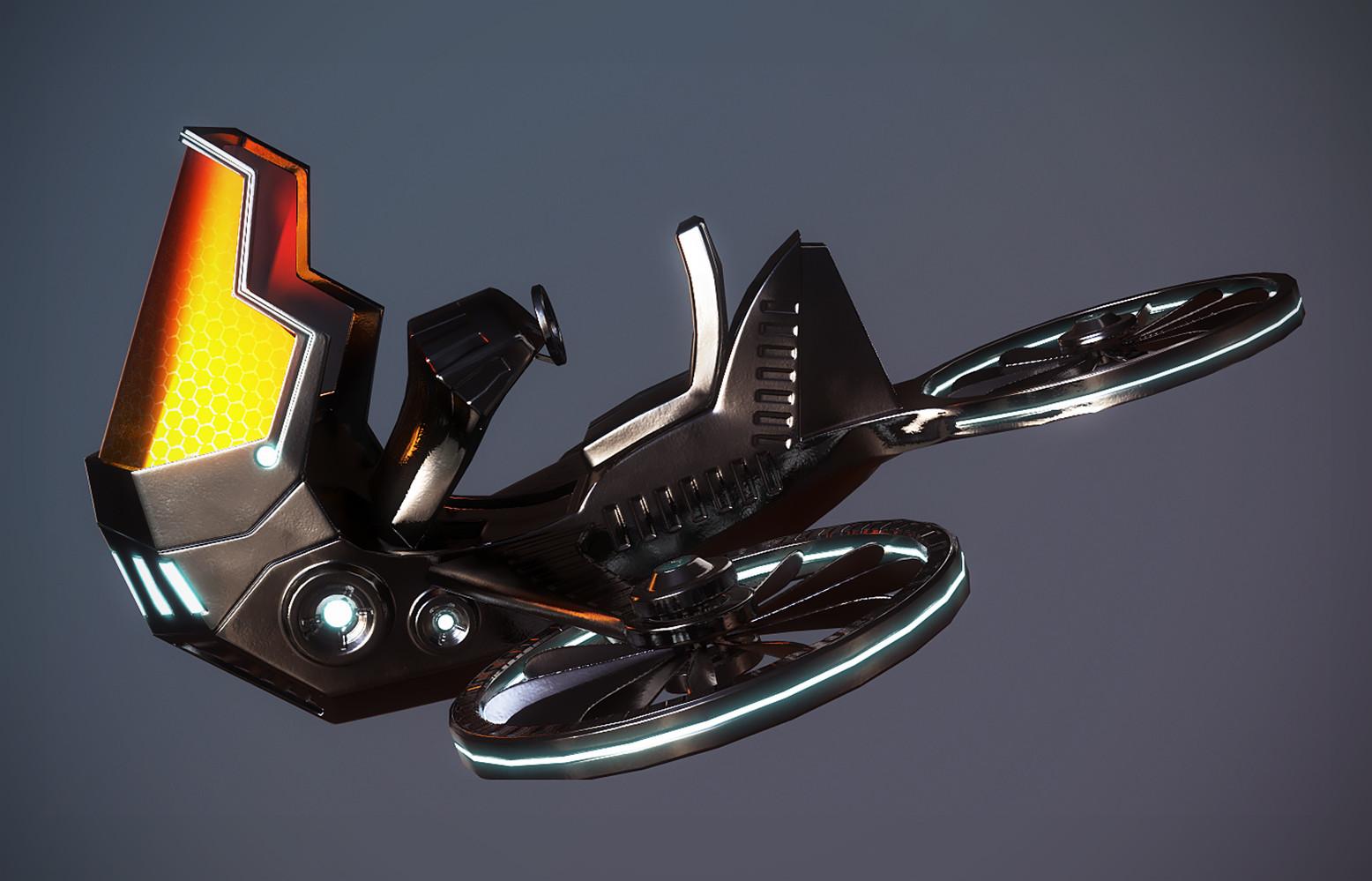 летающий мотоцикл картинка быстро, много пара