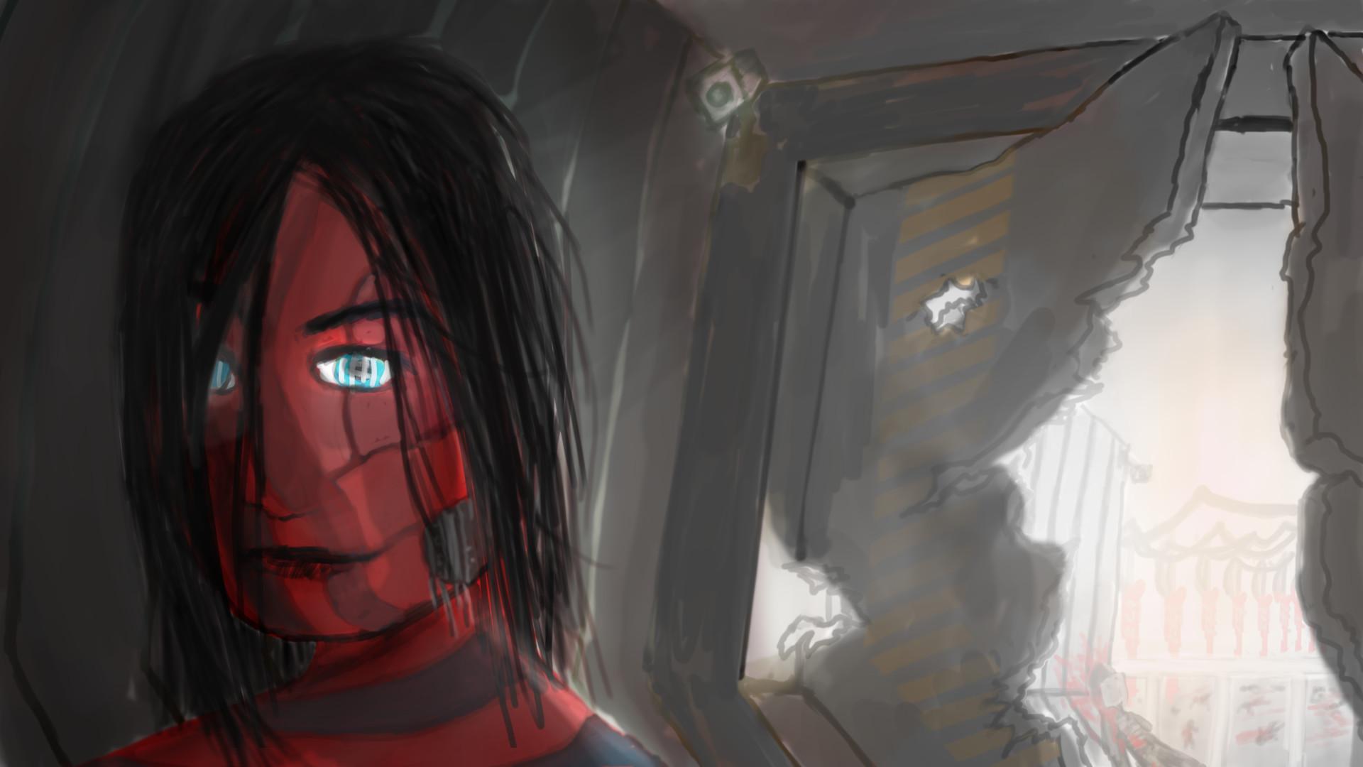 Alexander laheij the metal red woman brightbg