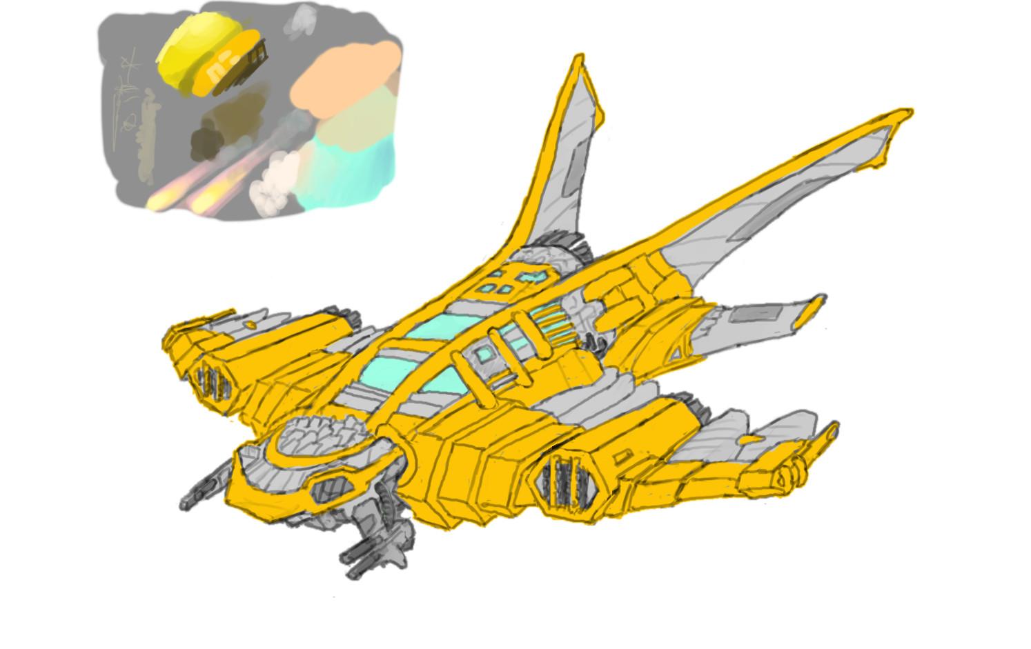 Alexander laheij spaceship wip 01