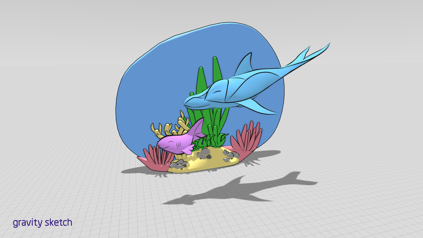 WIP (cartoon shader on plants replaced with inks to upload to sketchfab.)