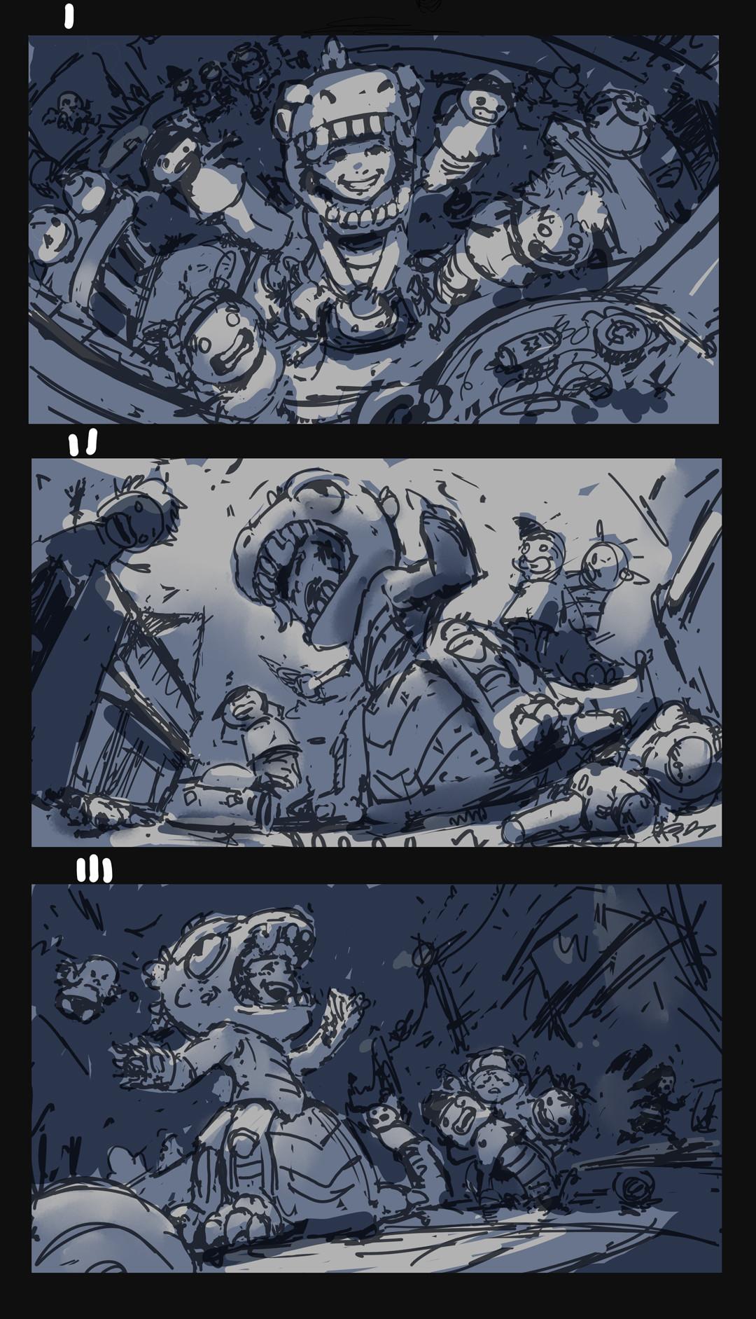 Devin platts scylla godscylla sketches2