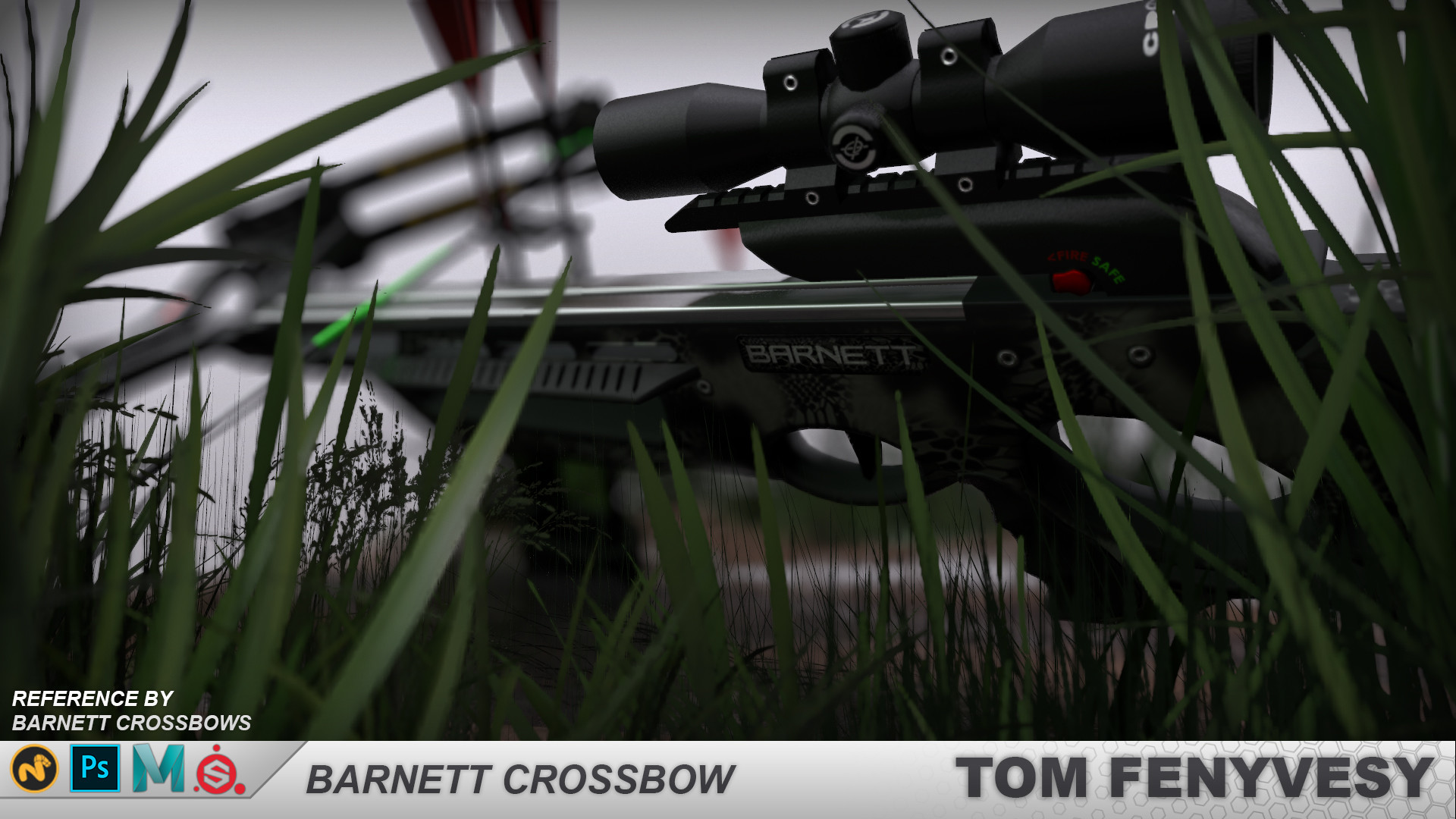 ArtStation - Barnett Crossbow, Tom Fenyvesy