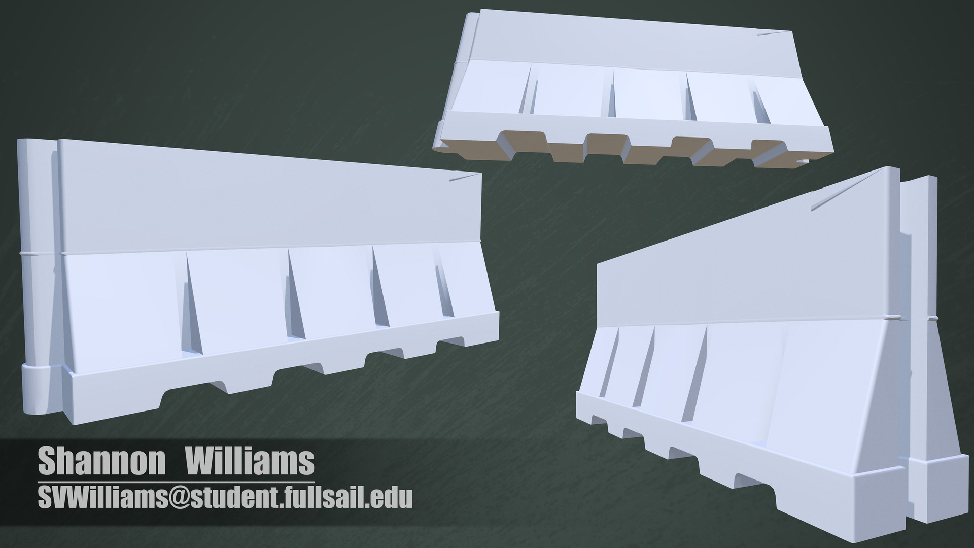 This was the original state of my high res model. You can notice the odd clipping on the top of the barricade.