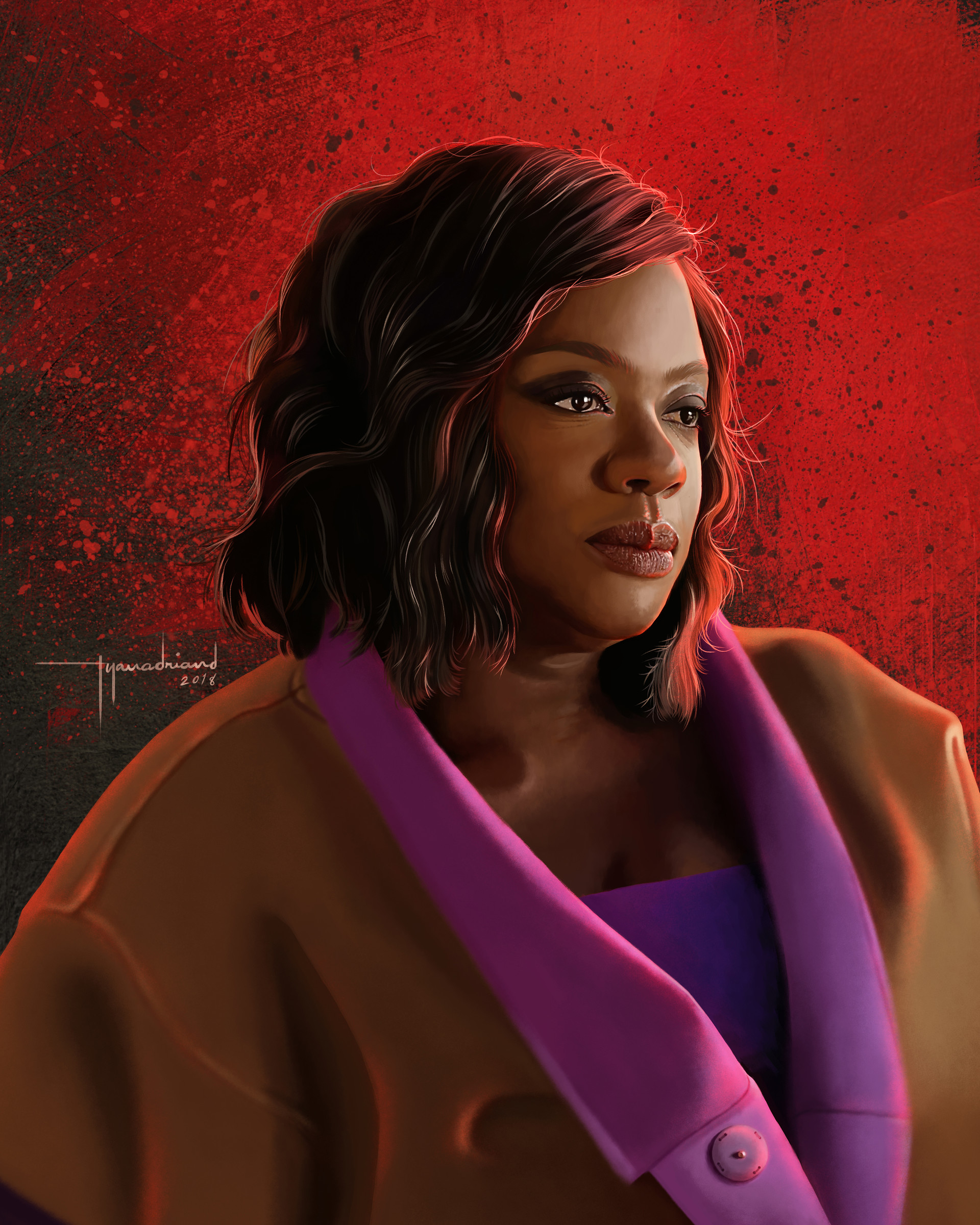 Rye adriano annalise keating digital painting lowres