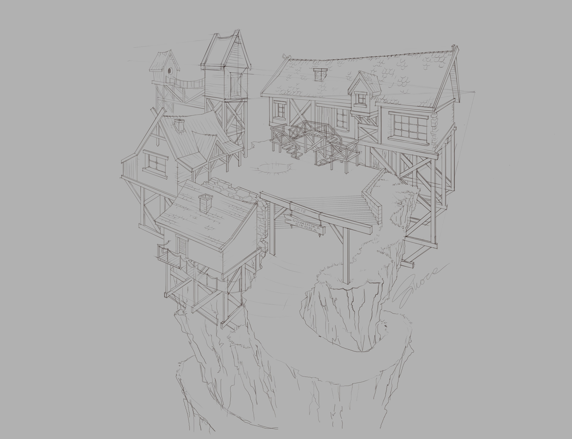 Dominika sikora village environment concept