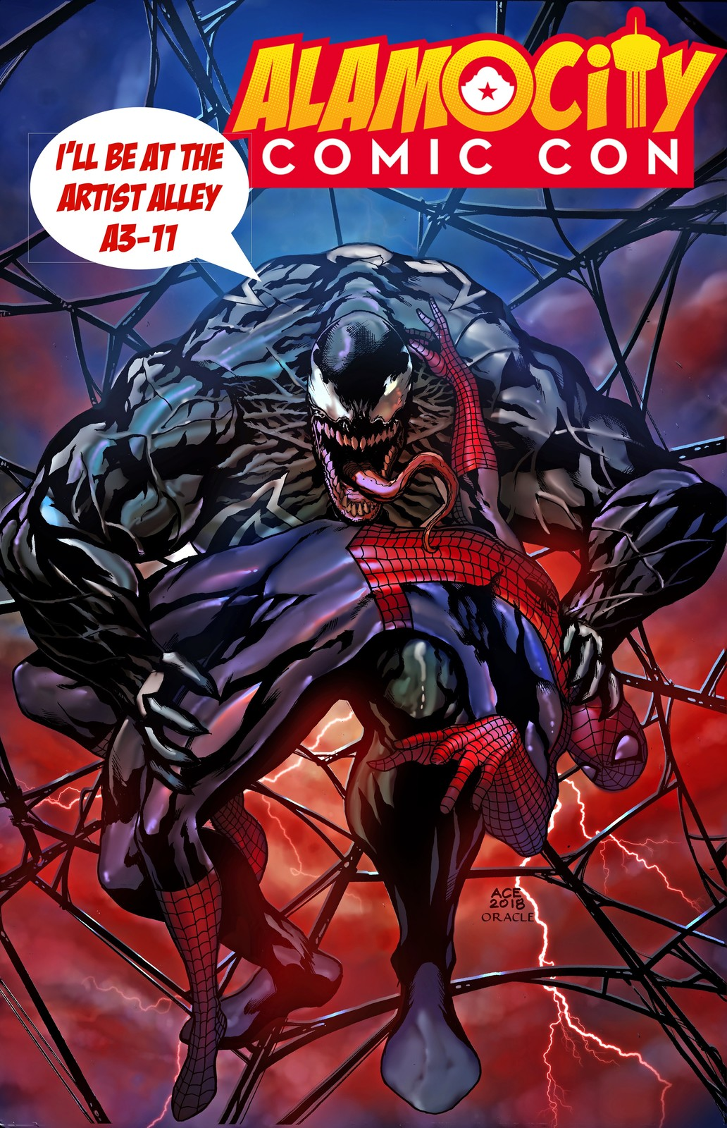 Venom does Bane. I'll be at the Alamo City Comic Con this October 26-28. Come by the artist alley A3-11
