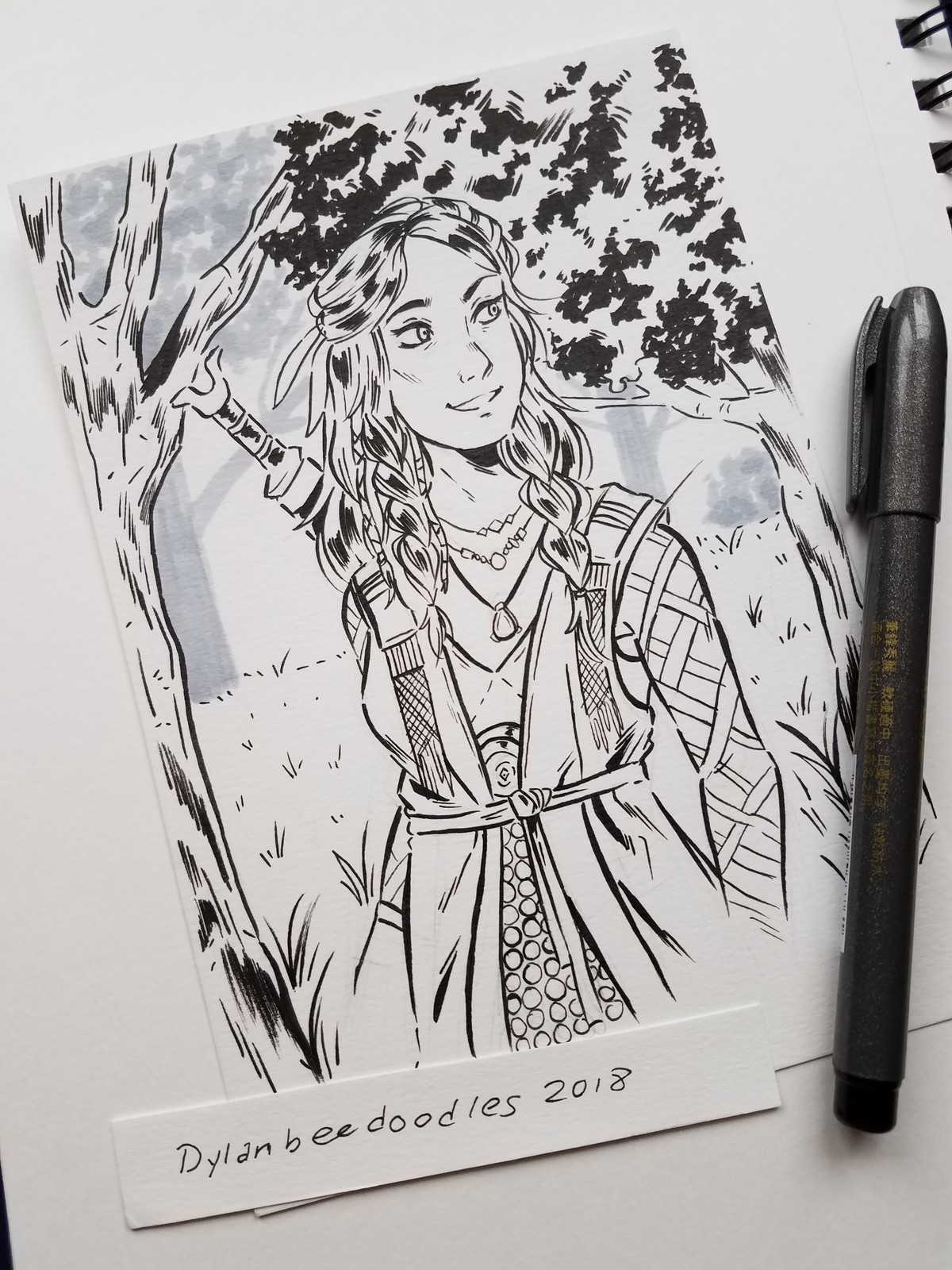 Inktober day 5 - Freya